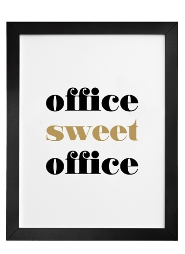 Nordbagen Office Sweet Office Poster Siyah
